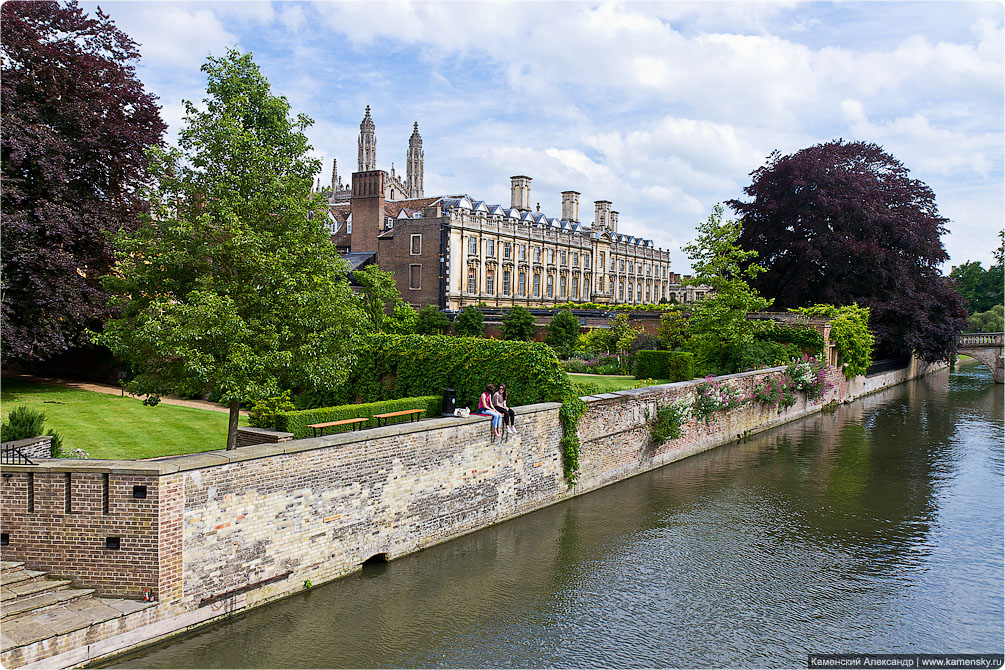 Великобритания, Кембридж, река Кэм, Cambridge, GB