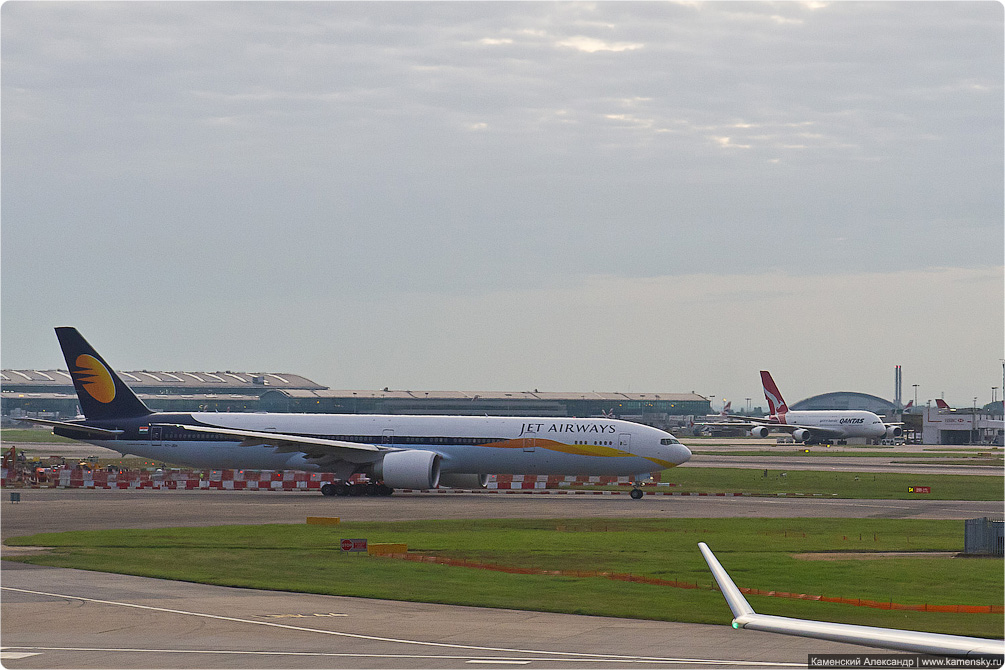 Споттинг, Хитроу, Лондон, spotting, Heathrow, London, airport, LHR, Boeing 777-35R/ER Jet Airways VT-JEH