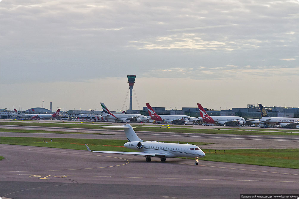 Споттинг, Хитроу, Лондон, spotting, Heatrow, London, airport, LHR, Бизнес-джет Bombardier BD-700-1A10 Global Express M-GBAL