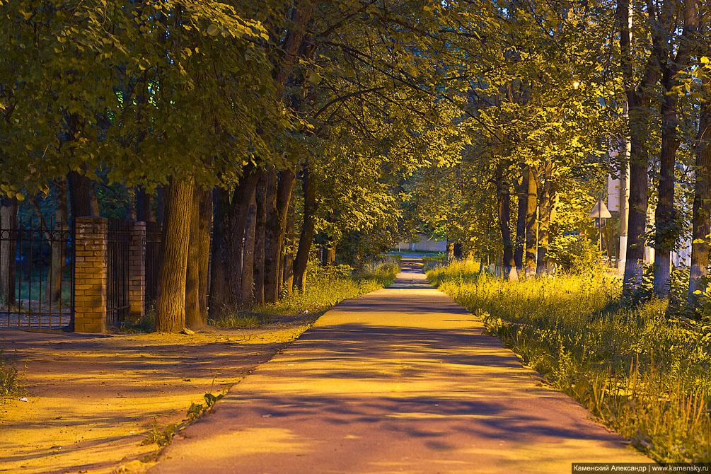 Вечер в Красноармейске, Московская область, река Воря, Ночная съемка
