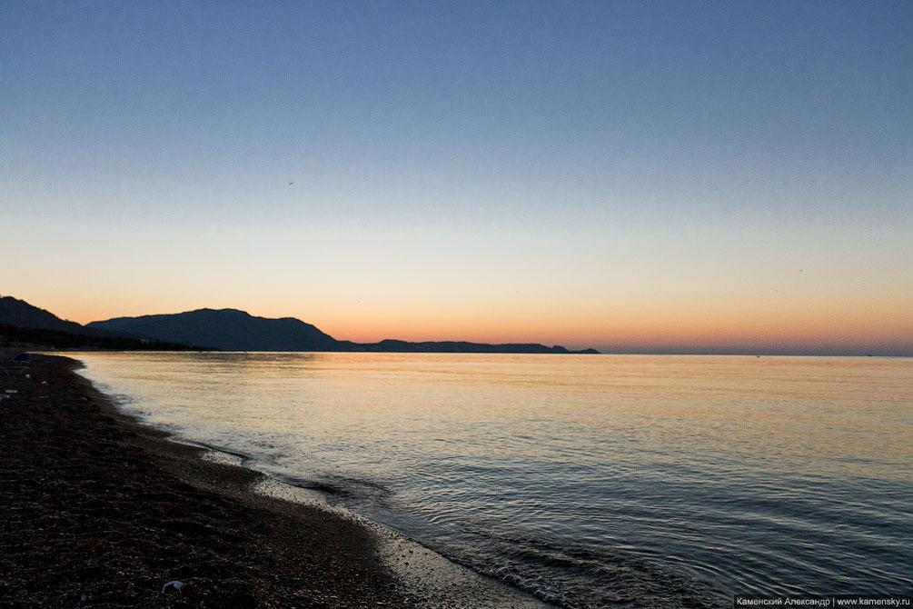 Greece, Rhodes, sea, море, восход, Родос, Греция, солнце