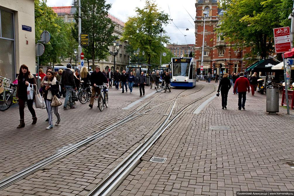 Европа, железная дорога, трамвай, метро, Амстердам, Нидерланды