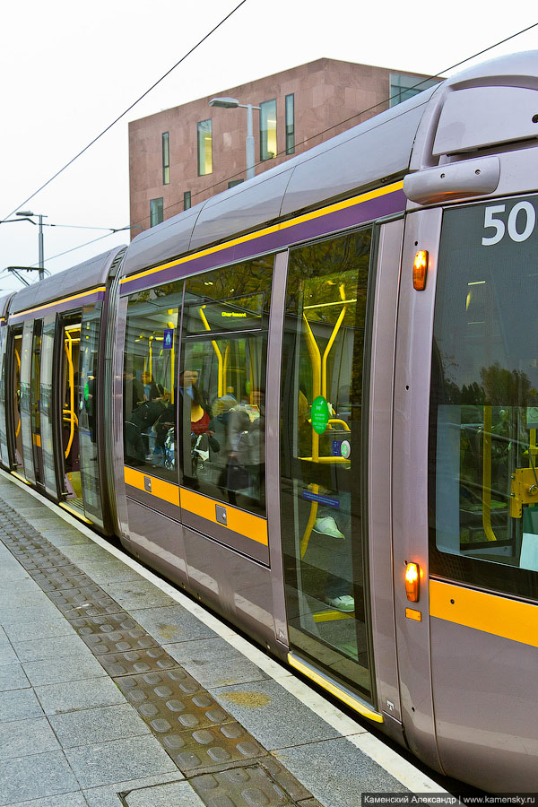 Дублин, Ирландия, Луас, Luas, трамвай, скоростной рельсовый транспорт, Европа, Dublin