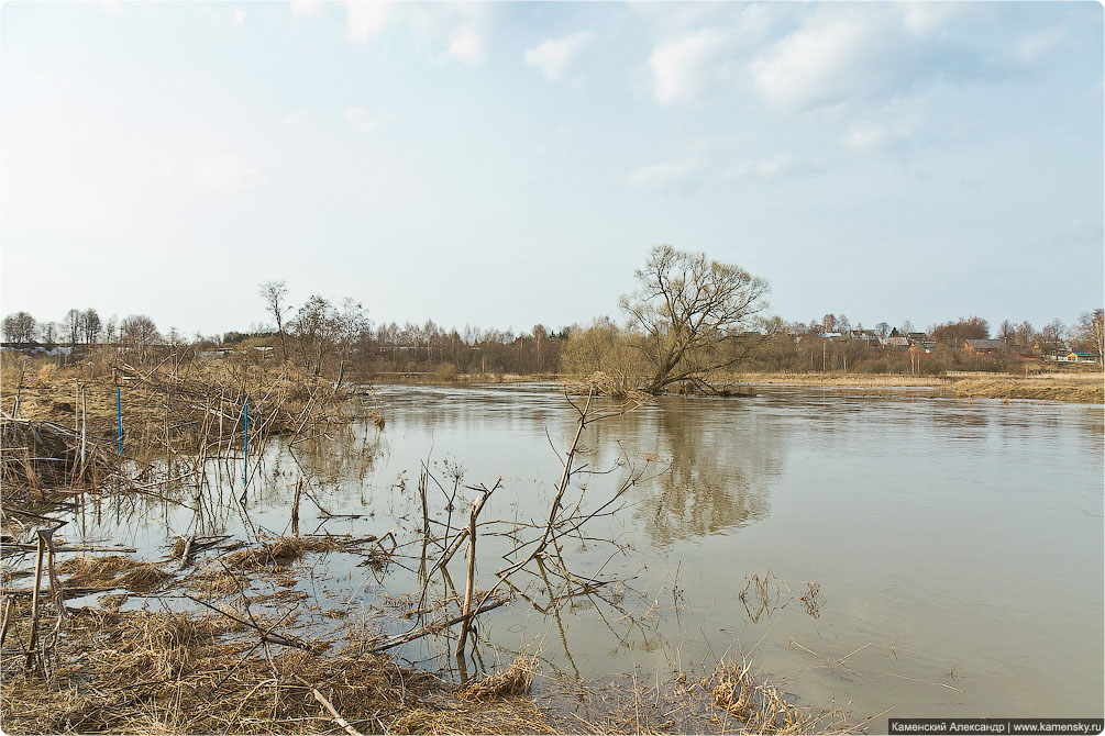 Московская область, весна, половодье, Красноармейск, река Воря, 2012