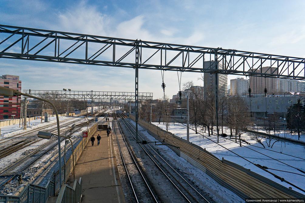 Москва, железная дорога, платформа, станция, Горьковское направление, МЖД, зима, электричка