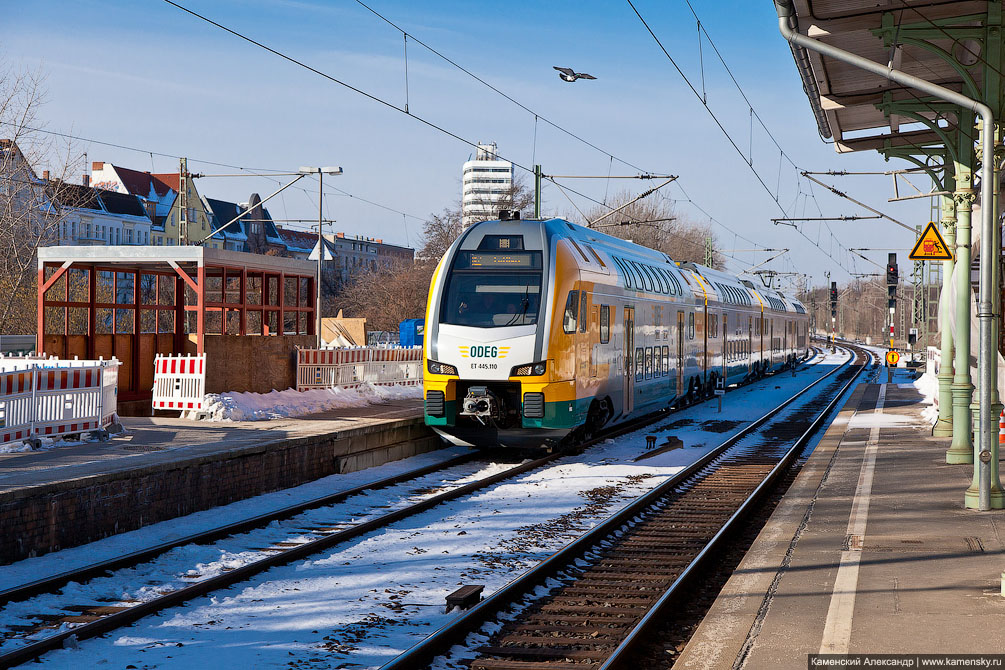 Германия, Берлин, рельсовый транспорт, Stadler KISS, ODEG ET class 445
