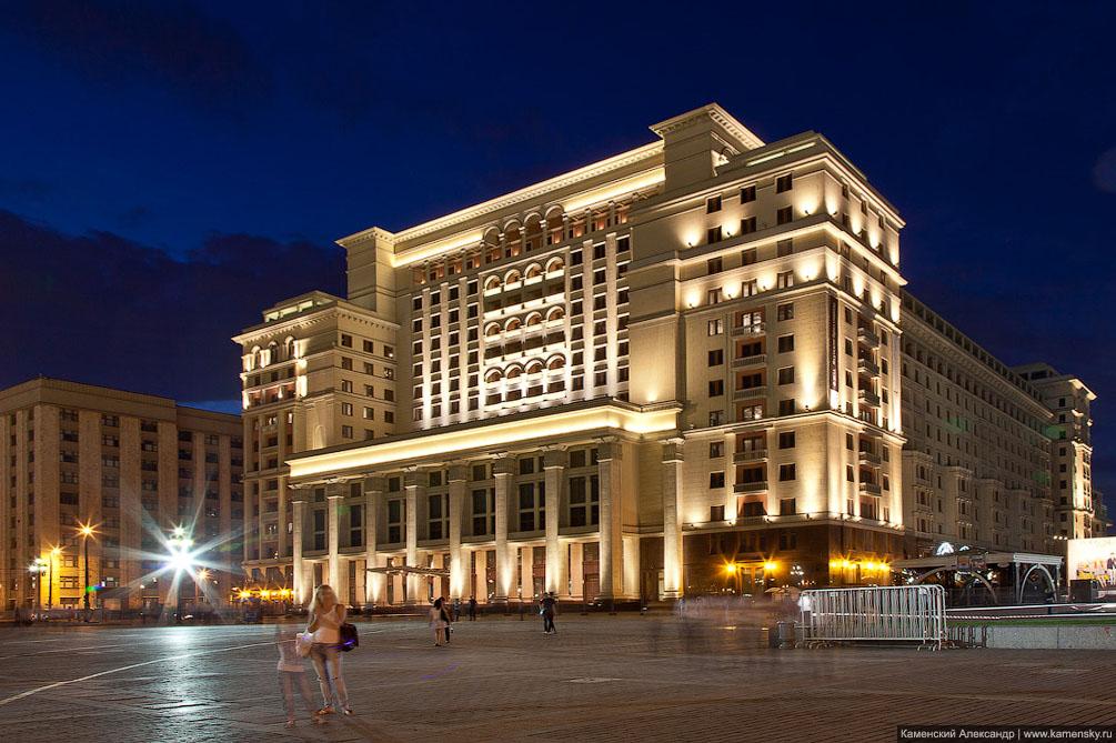 Москва, ночная съемка, Сити, центр