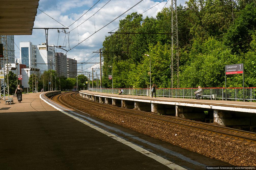 Москва, Рижское направление, платформы