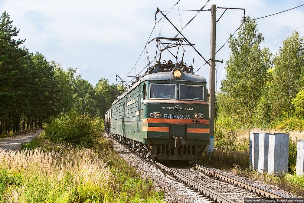 осень, ТГМ4, вагоны, Красноармейск, Московская область, Ярославское направление, железная дорога