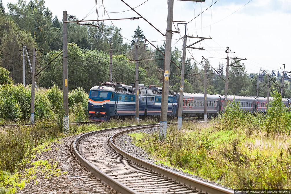 осень, вагоны, Красноармейск, Московская область, Ярославское направление, железная дорога