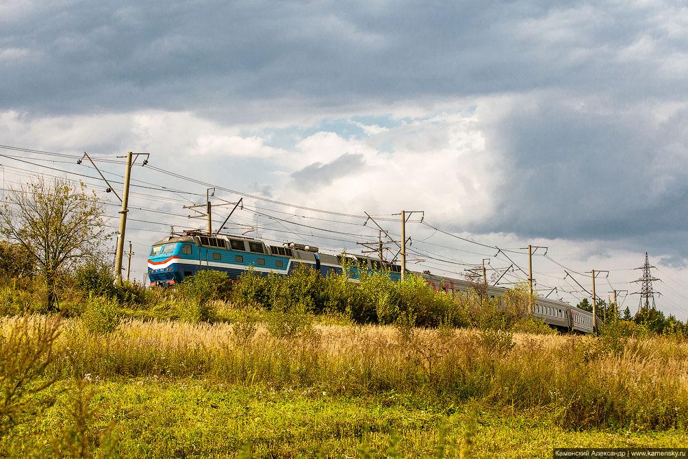 платформа Клязьма, Московская область, Ярославское направление, железная дорога, Электропоезд ЭД4М-0357 на Москву