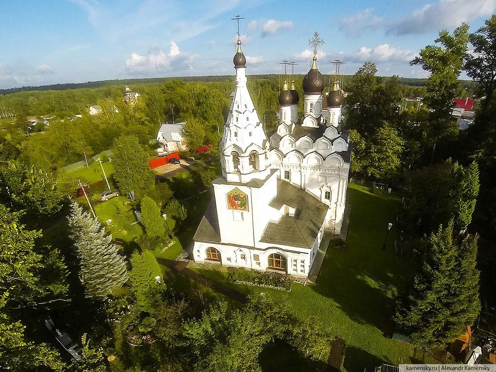 Московская область, храм, осень, квадрокоптер, с высоты, Ивантеевское благочиние