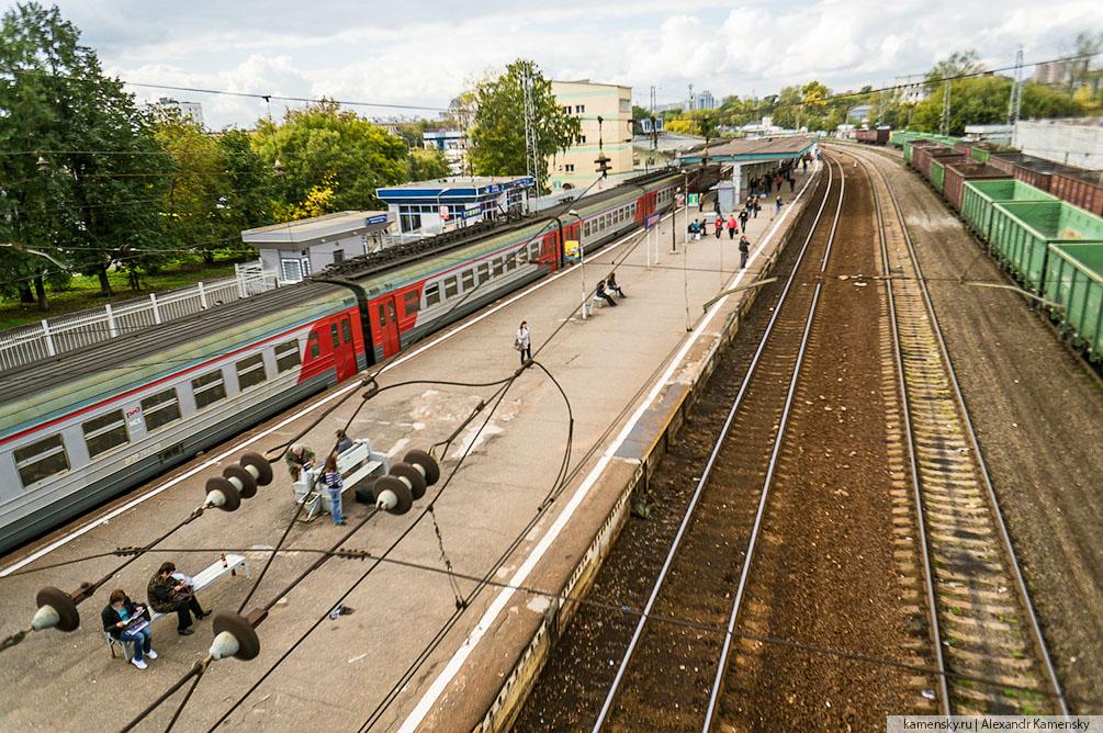 Москва, Рижское направление, осень, платформы