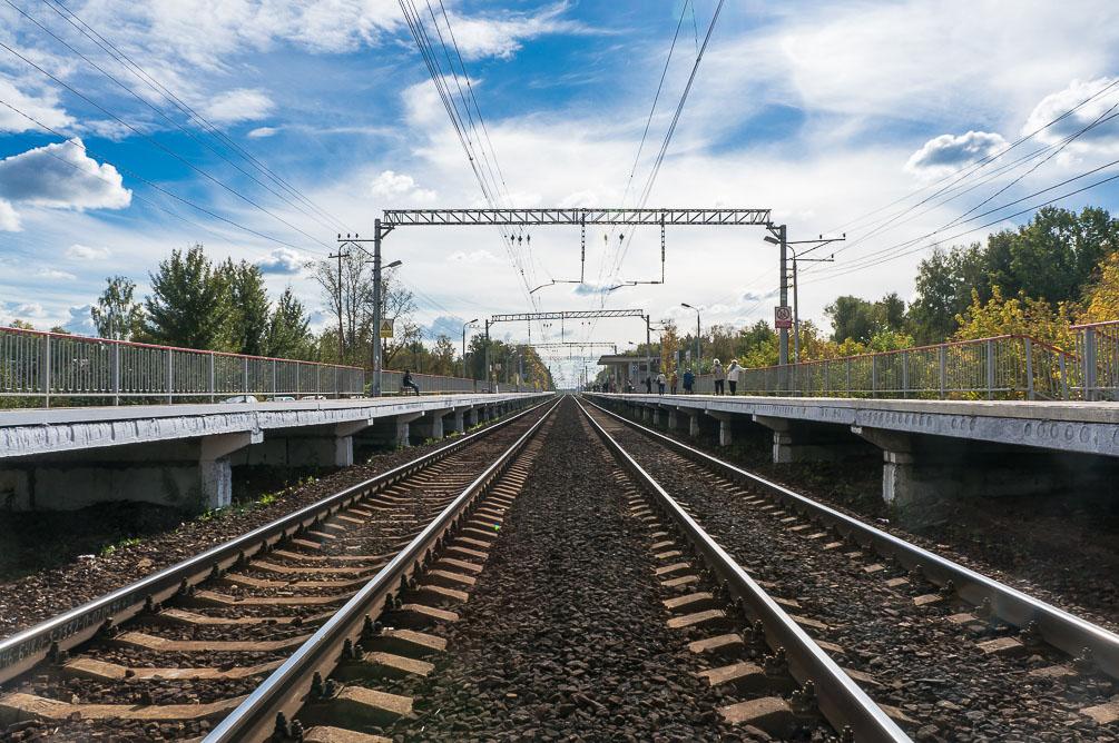 Московская область, Савёловское направление, Лобня, Долгопрудный, Некрасовская, Водники, осень, железная дорога, поезда, электрички, платформы, станции