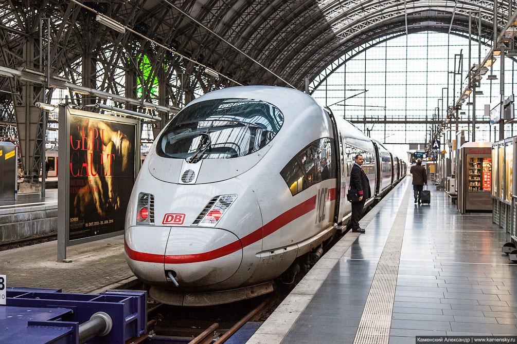 Германия, Франкфурт, рельсовый транспорт, поезда, железная дорога