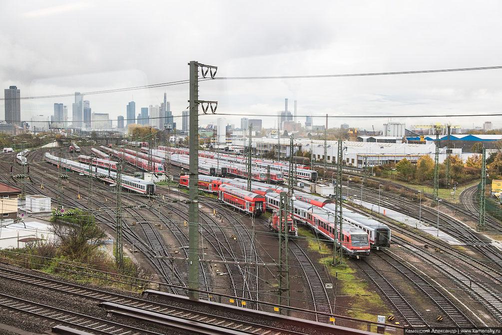 Германия, Франкфурт, рельсовый транспорт, поезда, железная дорога, Stadler KISS, ODEG ET class 445