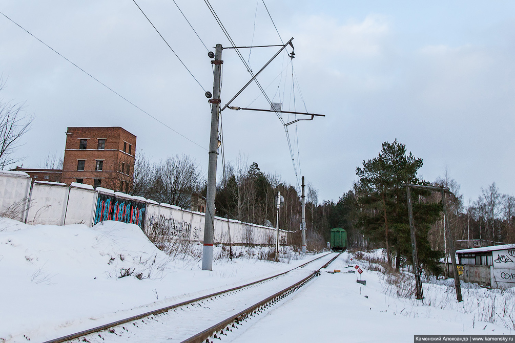 станция Красноармейск, Московская область, Ярославское направление, железная дорога, подъездной путь