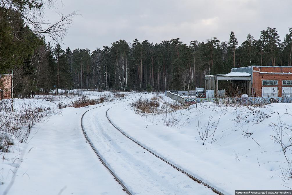 зима, станция Красноармейск, Московская область, Ярославское направление, железная дорога, подъездной путь