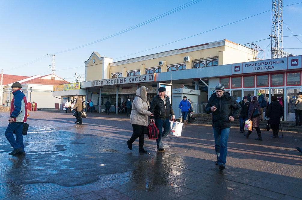 Московская область, Курское направление, Подольск, Гривно, Весенняя, станции, платформы, элефктропоезда