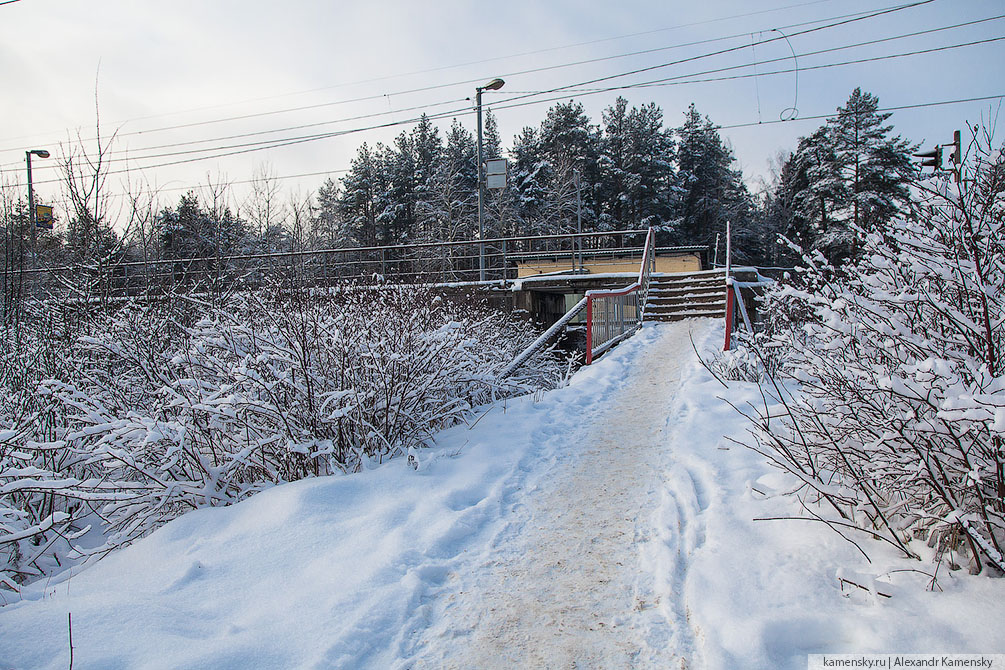 Горьковское направление, Электрогорская ветка, платформа Ленская, платформа Ковригино, мост через Клязьму