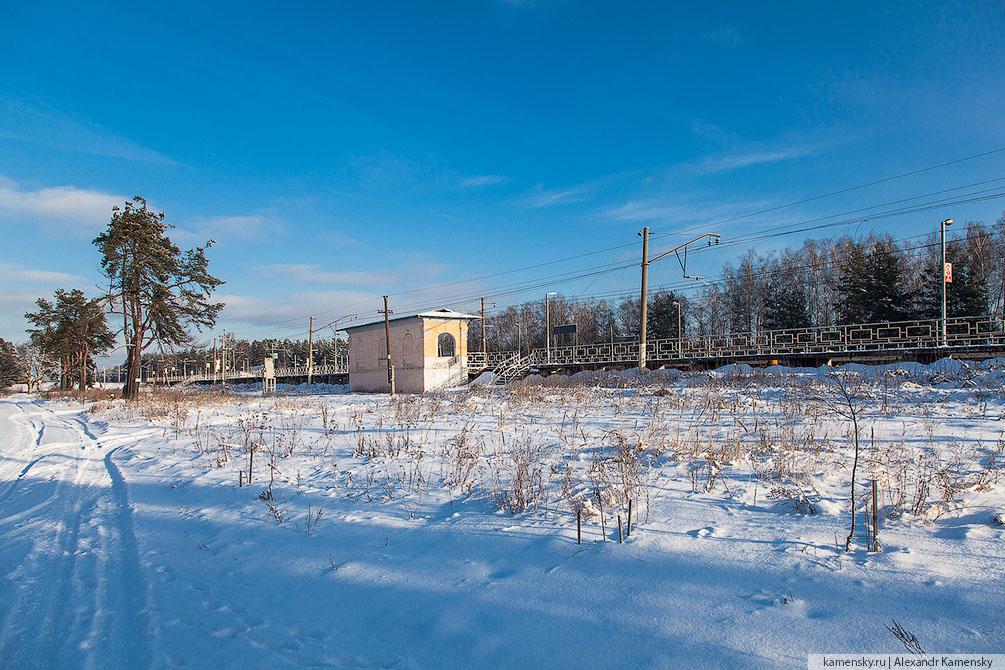 Московская область, Горьковское направление, Войново, платформа, зима