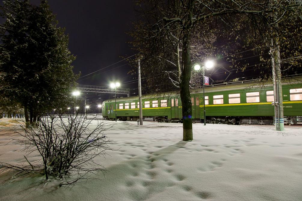 Бородино, Можайск, Белорусское направление, зима, станции и платформы