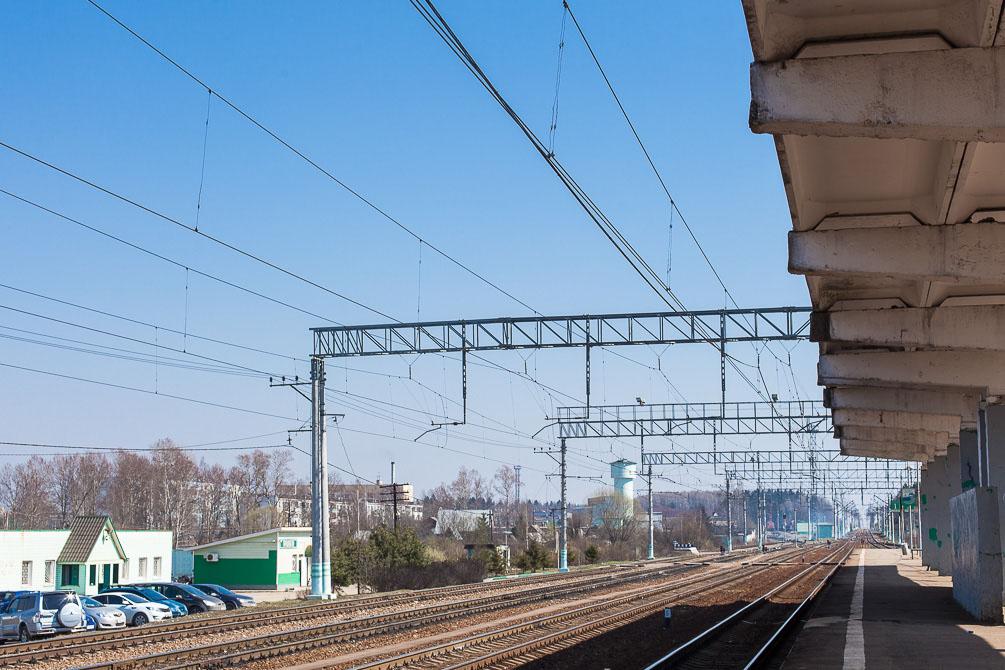 Белорусское направление, весна, станции и платформы, Малые Вяземы, Дачная, Голицыно, Часцовская, Сушкинская, Петелино
