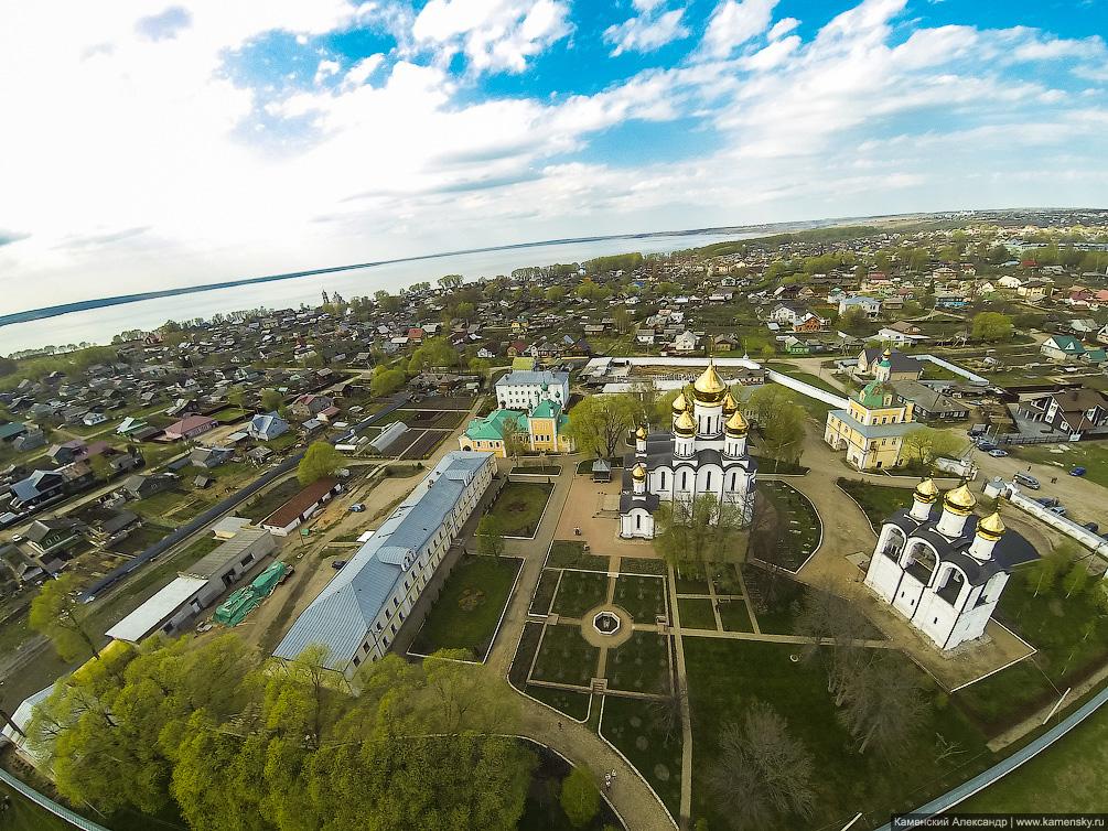 Ярославская область, Переславль, Никольский монастырь, квадрокоптер, полеты, взгляд с высоты