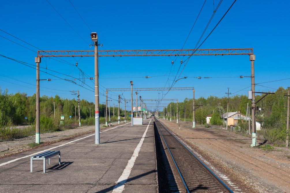 Казанское направление, весна, станции и платформы, Черусти