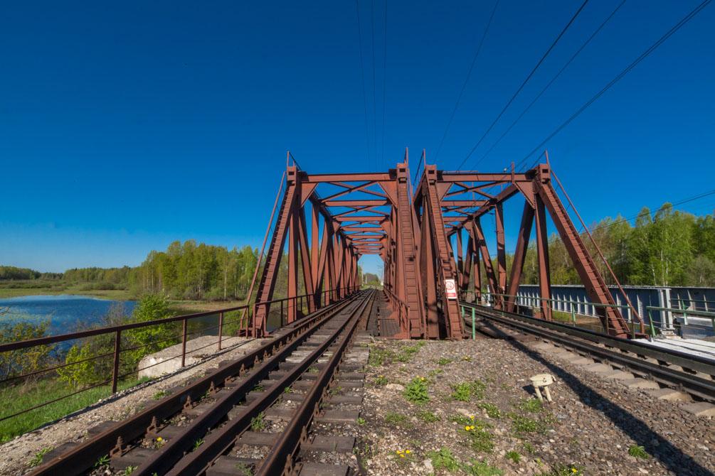 Казанское направление, весна, станции и платформы, Кривандино