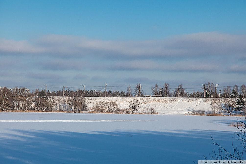 Московская область, БМО, Орехово-Зуево, мост, Клязьма, Горьковское направление, платформа 185 км, взгляд с высоты