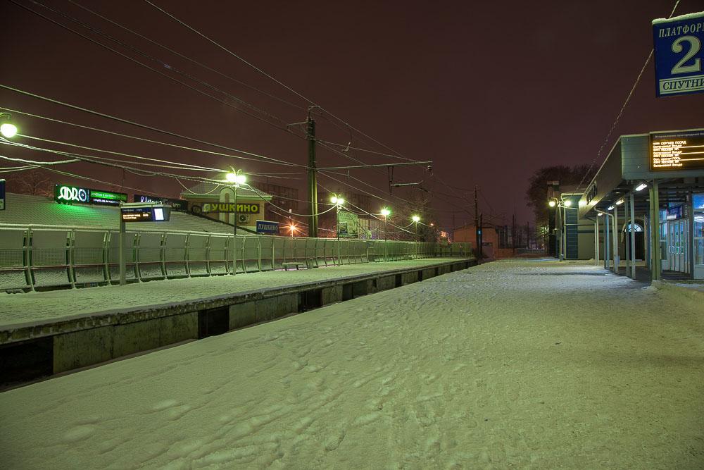Московская область, Пушкино, зима, снегопад