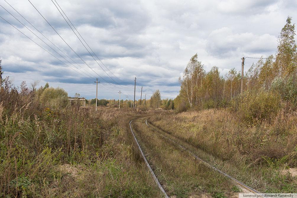 Московская область, осень, ППЖТ, Подъездные пути, Воскресенск, Новочеркасское