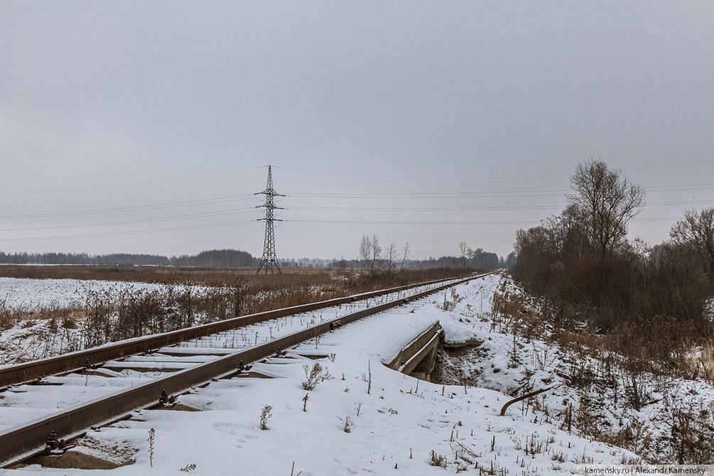 Ярославская область, малодеятельные ветки, тепловозы, зима, Гаврилов Ям, Семибратово