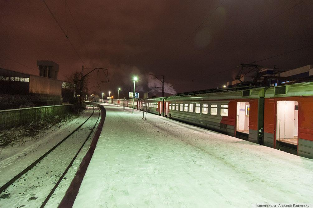 Московская область, зима, Ногинск, Горьковское направление, Захарово