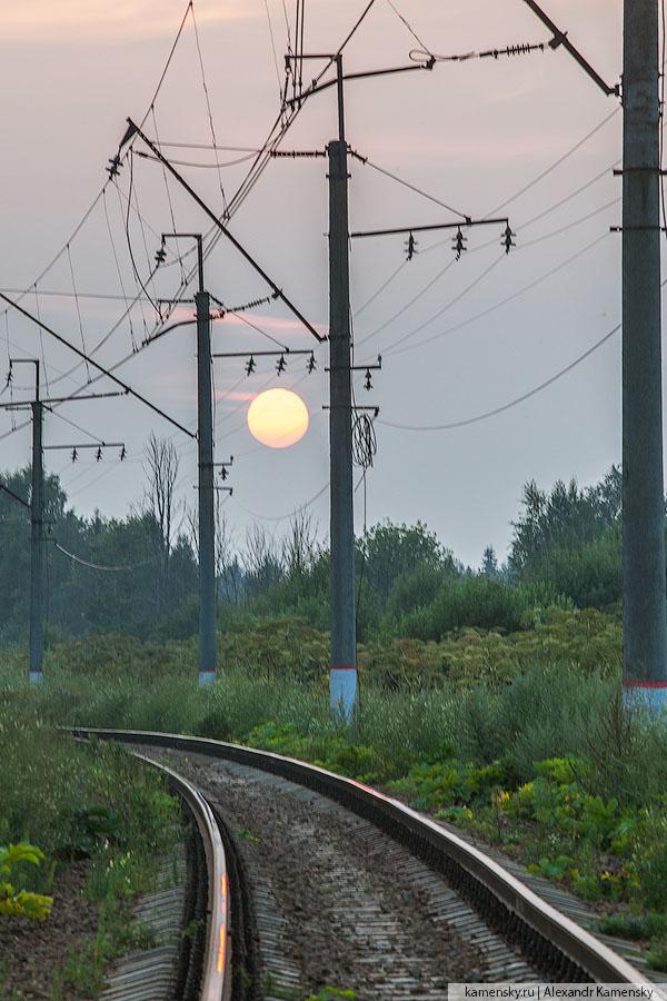 жд, железные дороги, Московская область, осень, красиво