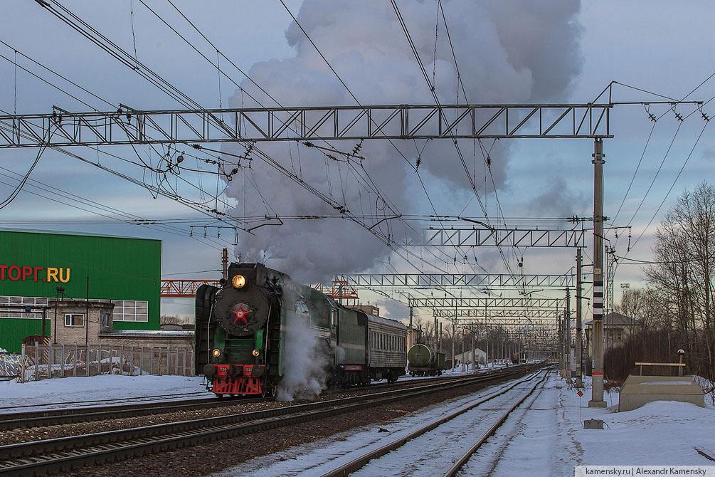 февраль, зима, железная дорога, Подмосковье, электропоезд