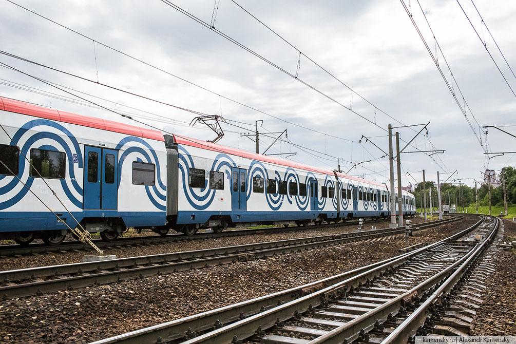 Москва, Иволга, Киевское направление, лето, ночные трамваи