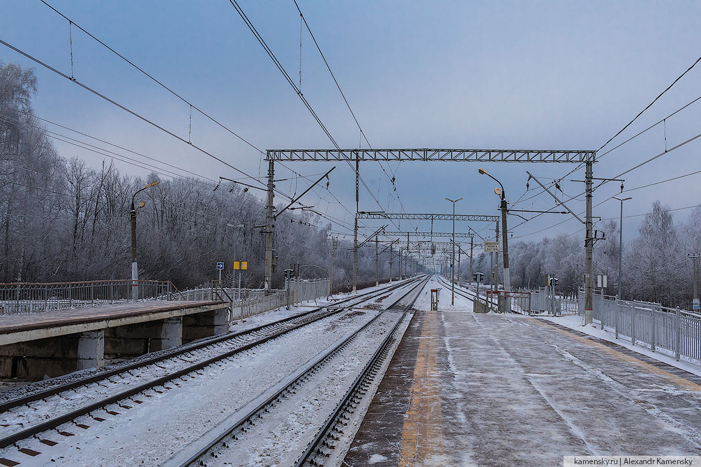 Ярославская область, Переславль-Залесский, зима, малодеятельные линии