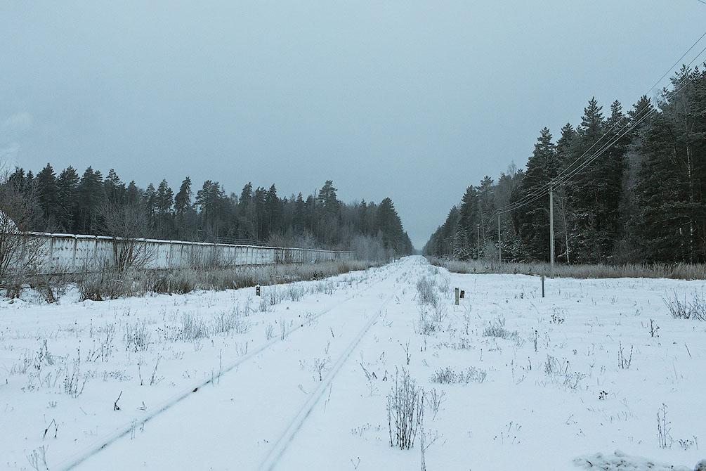 Московская область, Горьковское направление, зима, Ногинск
