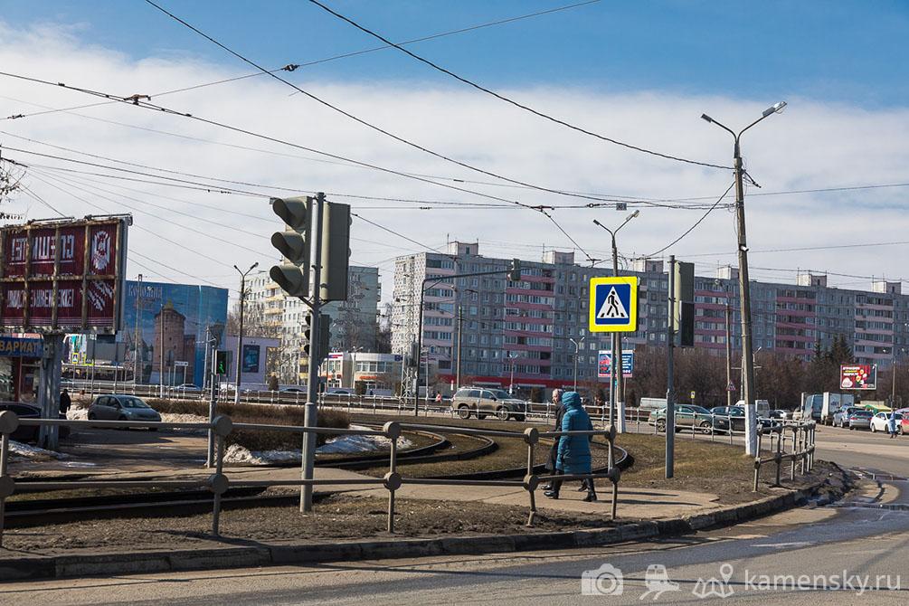 Московская область, Коломна, трамваи, весна, город