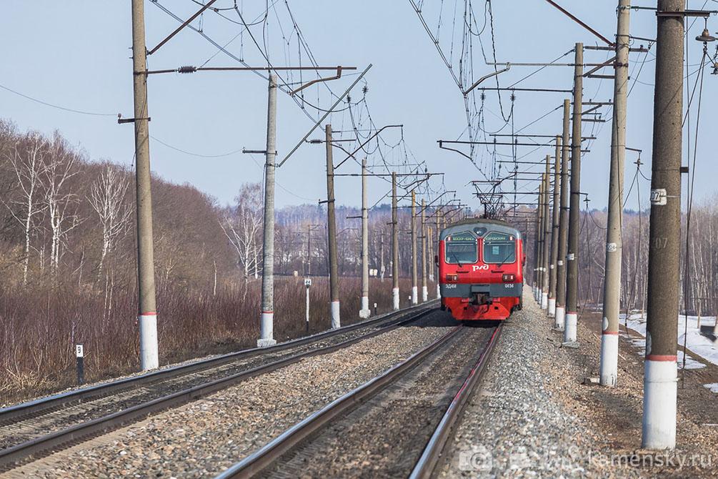 Московская область, платформа Осёнка, весна, железная дорога, БМО