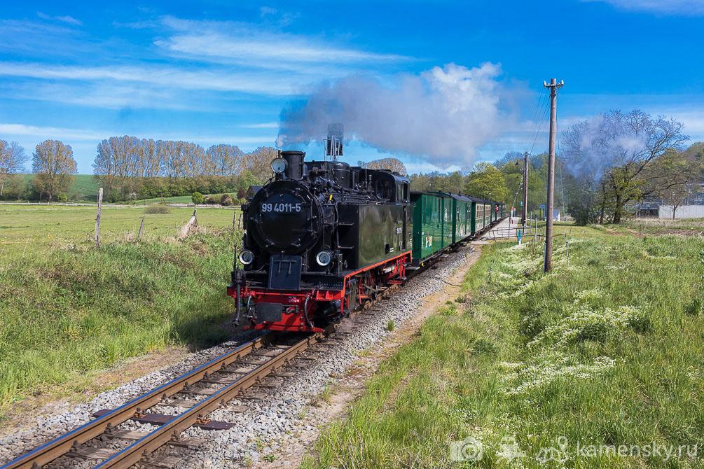 Германия, Рюген, Путбус, Putbus, Binz, Бинц, Rügensche Bäderbahn (RüKB), Ревущий Роланд, УЖД, Узкоколейка, Germany