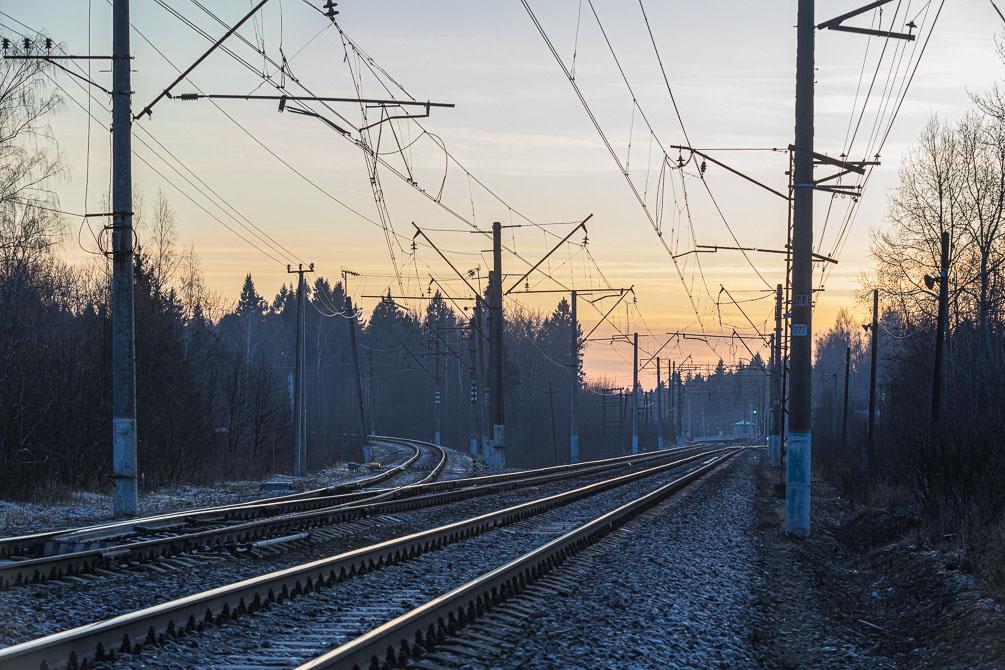 Московская область, пост 81 км, весна, железная дорога, БМО