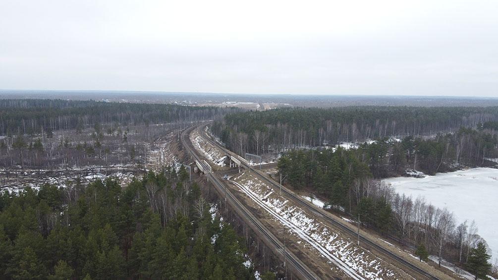 Московская область, Орехово-Зуево, БМО, весна, Горьковское направление, железная дорога, Амазонка