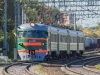 ЭР2-980 служебным рейсом Москва - Мытищи в честь 90-летнего юбилея открытия движения электропоездов